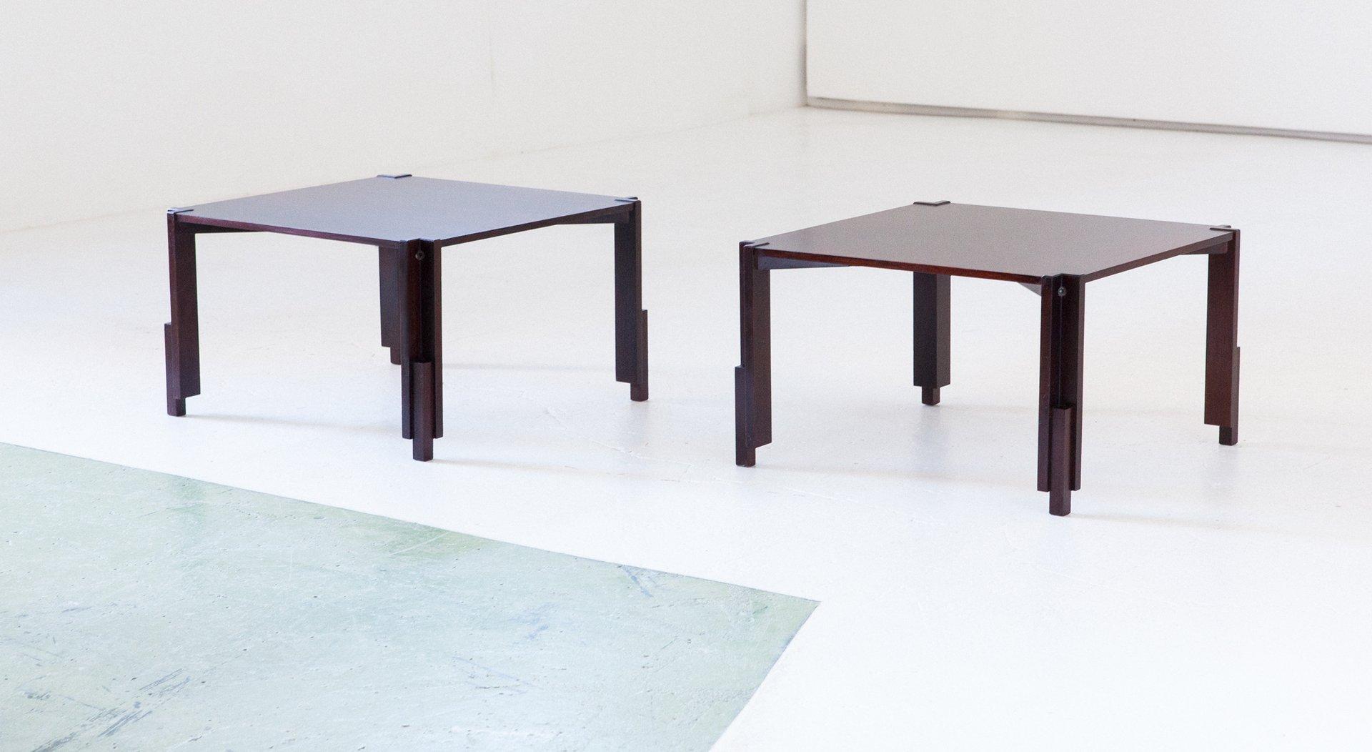 italienische palisander couchtische 1960er 2er set bei. Black Bedroom Furniture Sets. Home Design Ideas