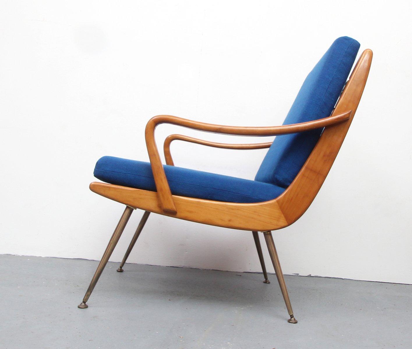 boomerang kirschholz sessel 1950er bei pamono kaufen. Black Bedroom Furniture Sets. Home Design Ideas