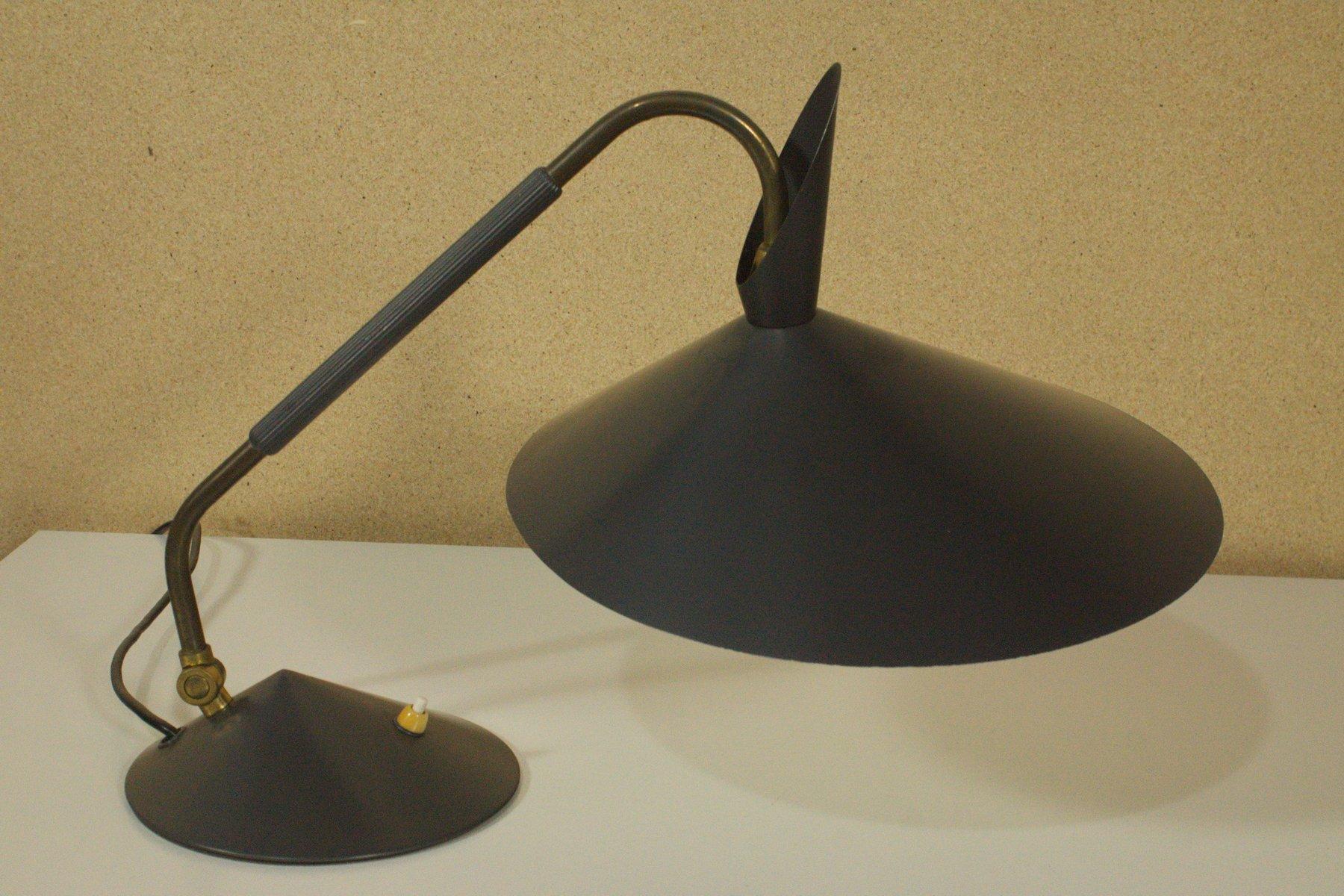 verstellbare vintage schreibtischlampe mit schwarzem. Black Bedroom Furniture Sets. Home Design Ideas
