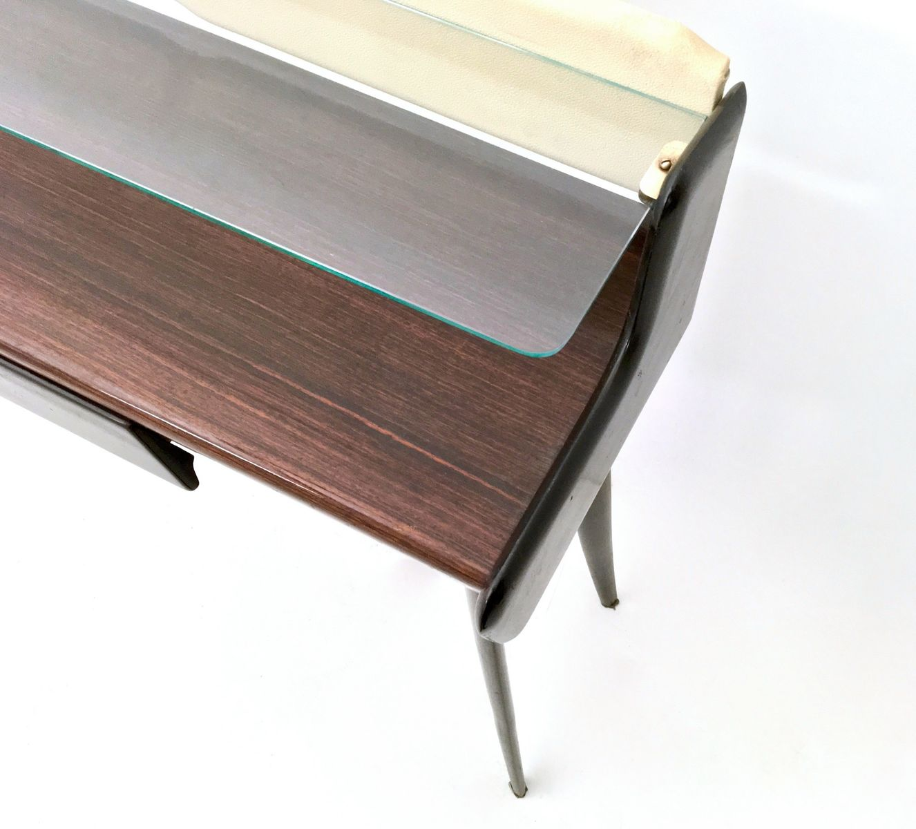 Mid century italian console table pouf 1950s for sale for Table verre 6 poufs