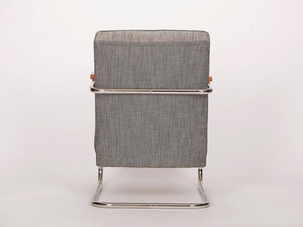 stahlrohr armlehnstuhl von m cke melder 1930er bei pamono kaufen. Black Bedroom Furniture Sets. Home Design Ideas