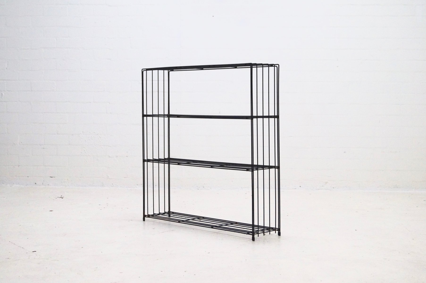 Wire Steel Bookcase By Tjerk Reijenga For Pilastro, 1960s For Sale At Pamono