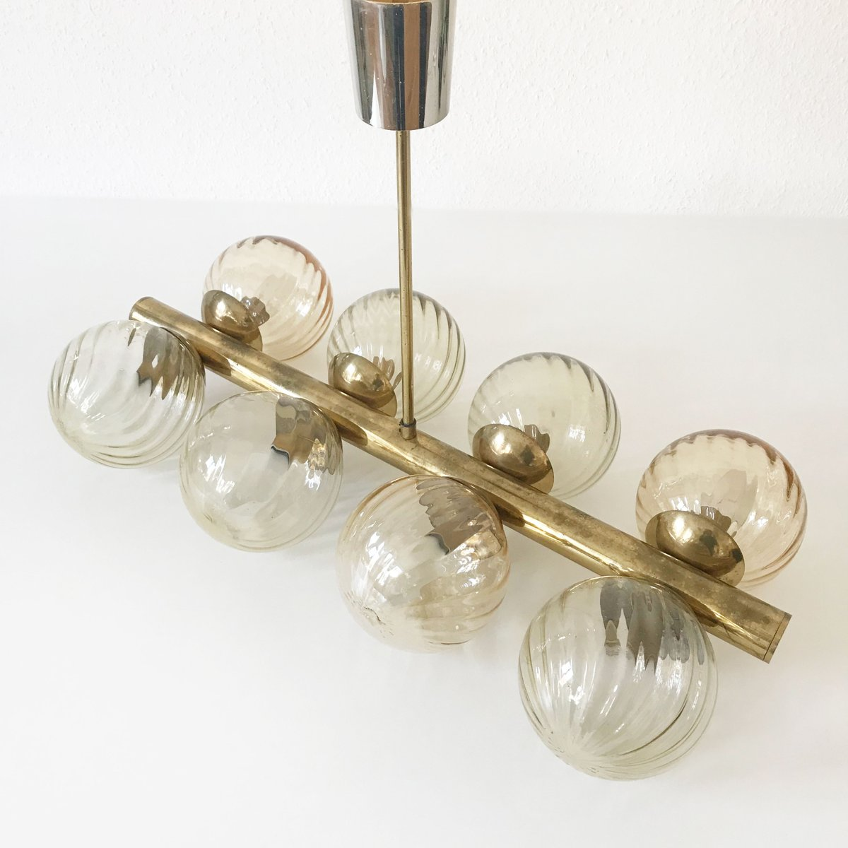 Mid century cluster multi globe atomic chandelier lamp from kaiser mid century cluster multi globe atomic chandelier lamp from kaiser leuchten arubaitofo Image collections