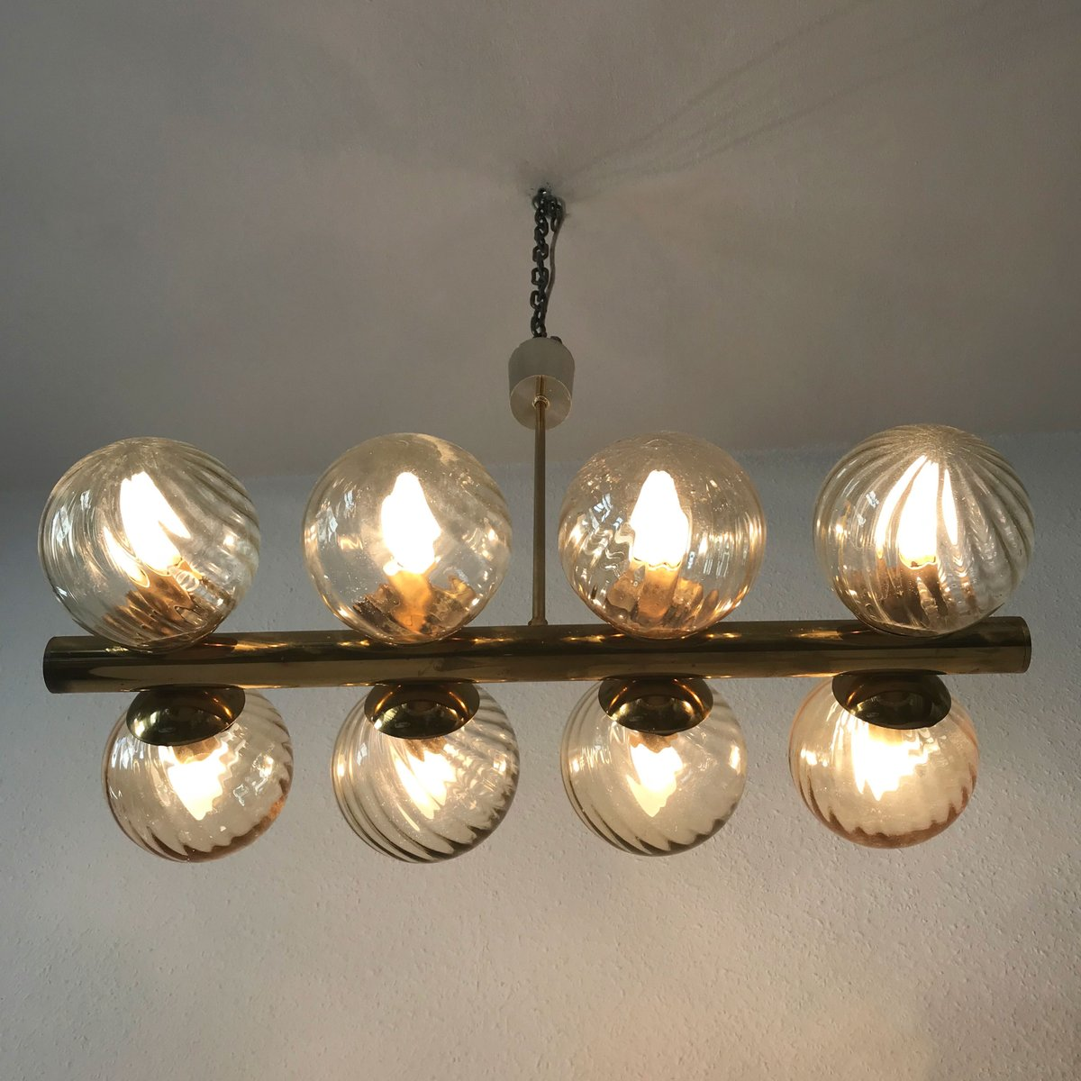 Mid century cluster multi globe atomic chandelier lamp from kaiser previous arubaitofo Image collections