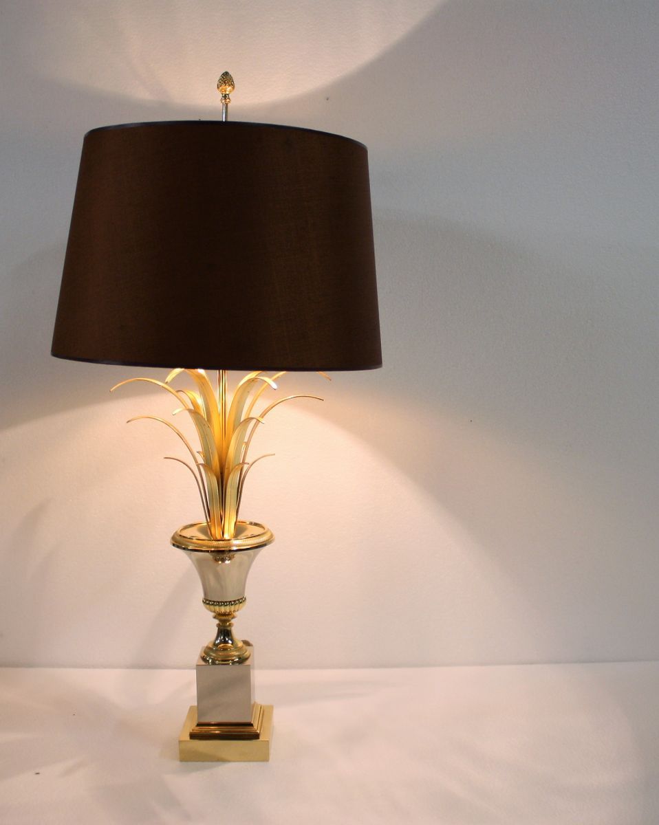 Brass pineapple leaf table lamp from boulanger 1960s for sale at pamono price per piece aloadofball Choice Image