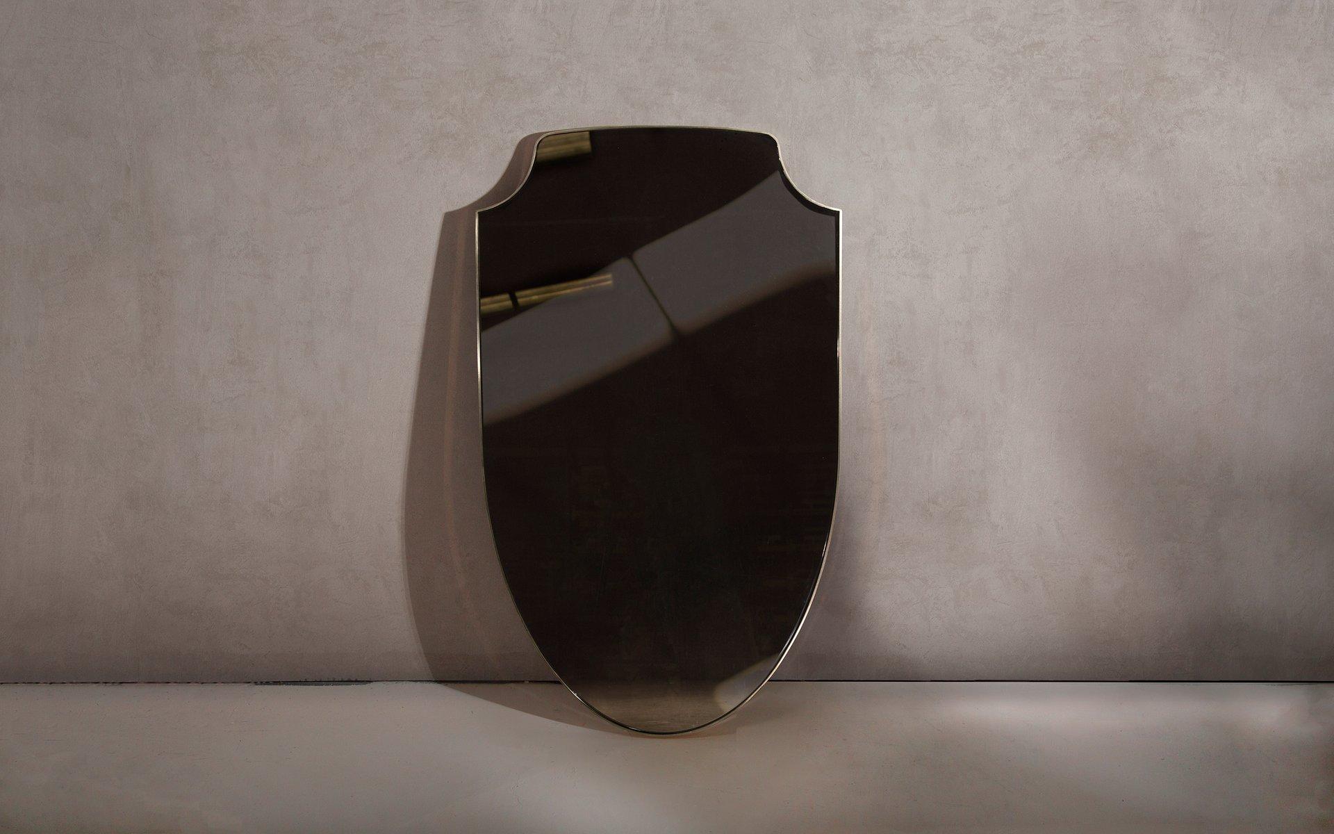 aegis bronze spiegel in messing von richy almond f r novocastrian bei pamono kaufen. Black Bedroom Furniture Sets. Home Design Ideas