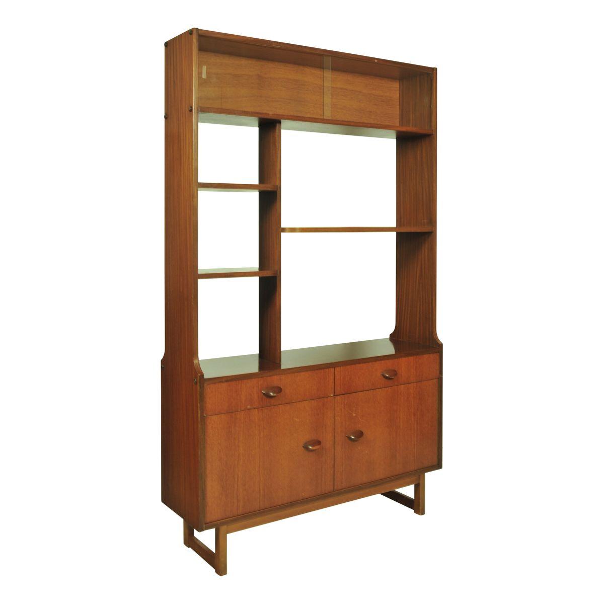 Teak Room Divider or Shelving Unit 1960s for sale at Pamono