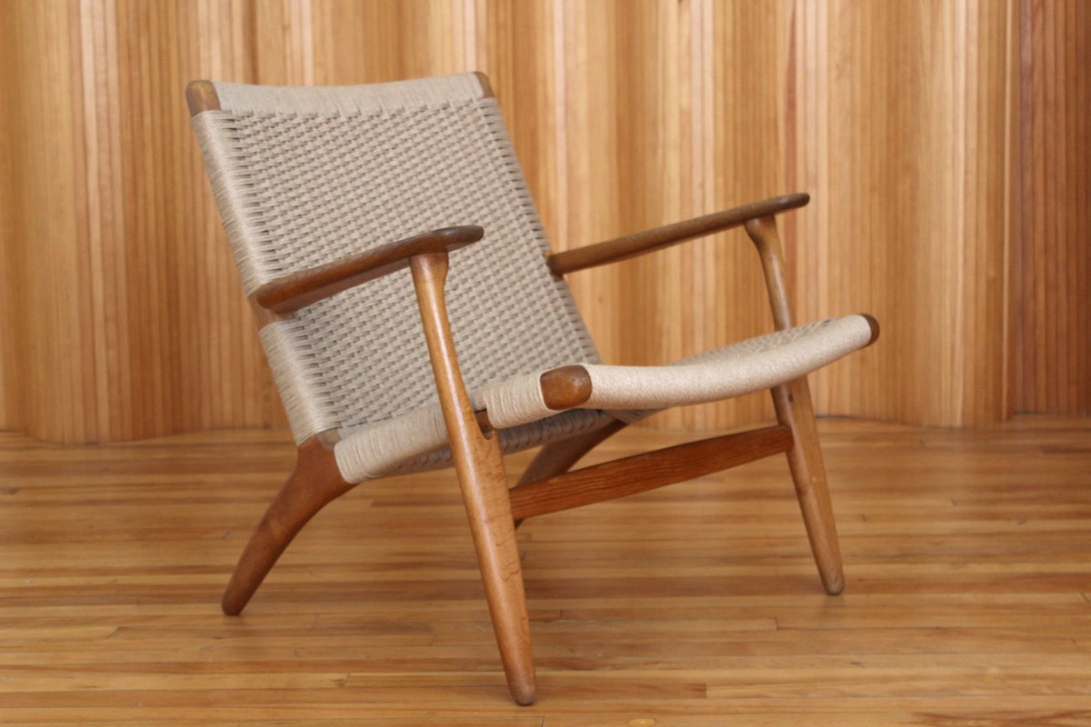 oak model ch25 lounge chair by hans wegner for carl hansen. Black Bedroom Furniture Sets. Home Design Ideas