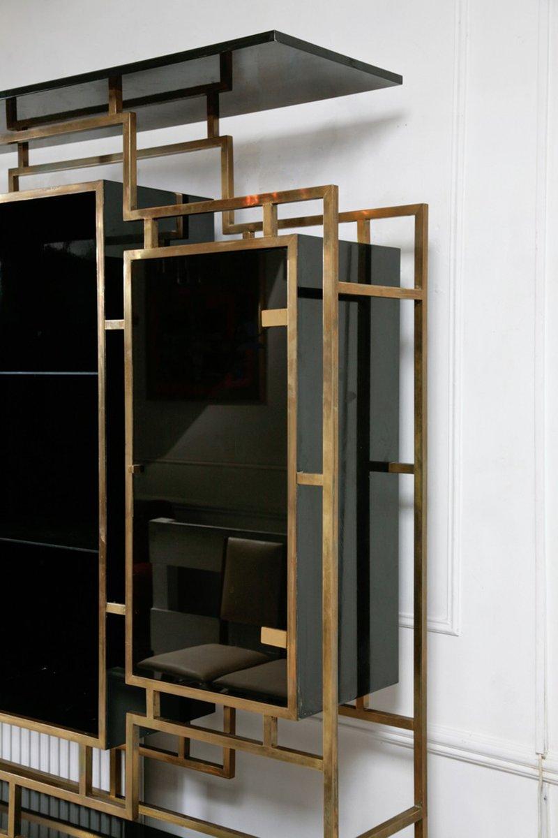 vitrine mit sideboard von kim moltzer f r maison jansen 1970er bei pamono kaufen. Black Bedroom Furniture Sets. Home Design Ideas