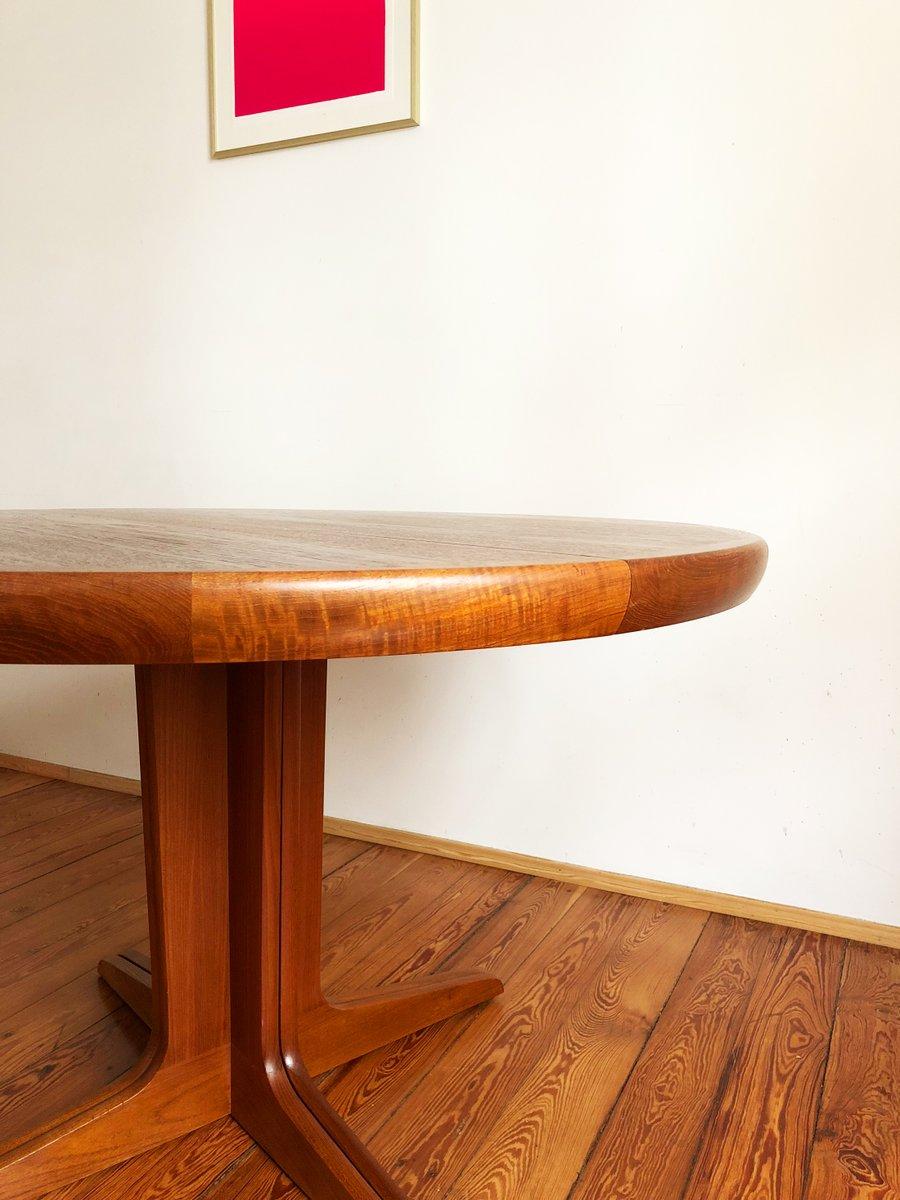 runder d nischer mid century teak esstisch von sp ttrup 1960er bei pamono kaufen. Black Bedroom Furniture Sets. Home Design Ideas