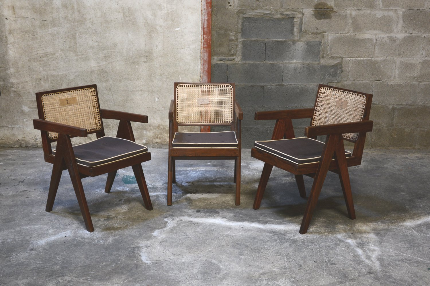 mid century office furniture. Mid-Century Office Chairs By Pierre Jeanneret, Set Of 3 Mid Century Furniture