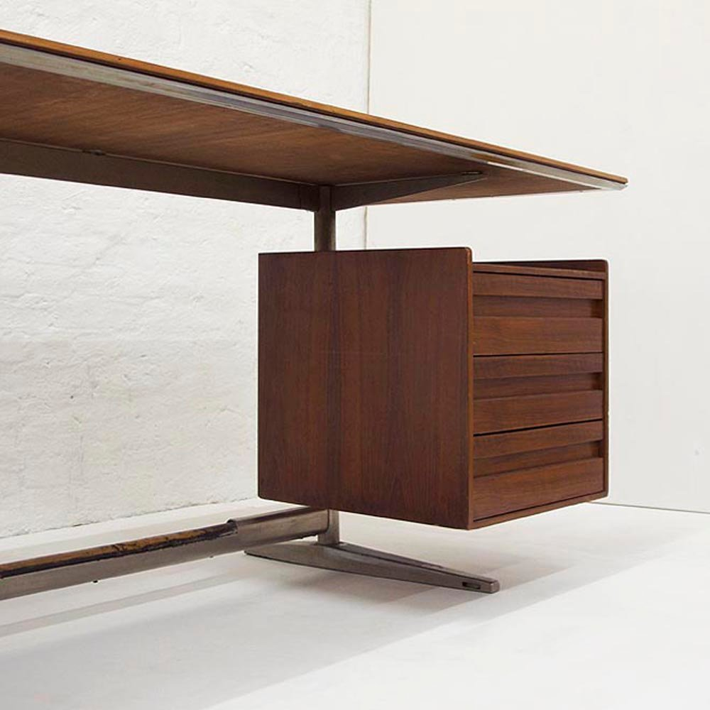 schreibtisch von gio ponti f r rima padova 1961 bei pamono kaufen. Black Bedroom Furniture Sets. Home Design Ideas