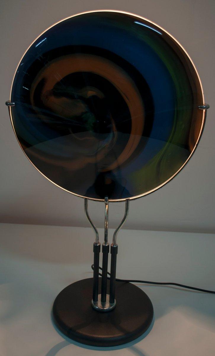 tischlampe aus glas von missoni f r arte vetro murano 1980er bei pamono kaufen. Black Bedroom Furniture Sets. Home Design Ideas