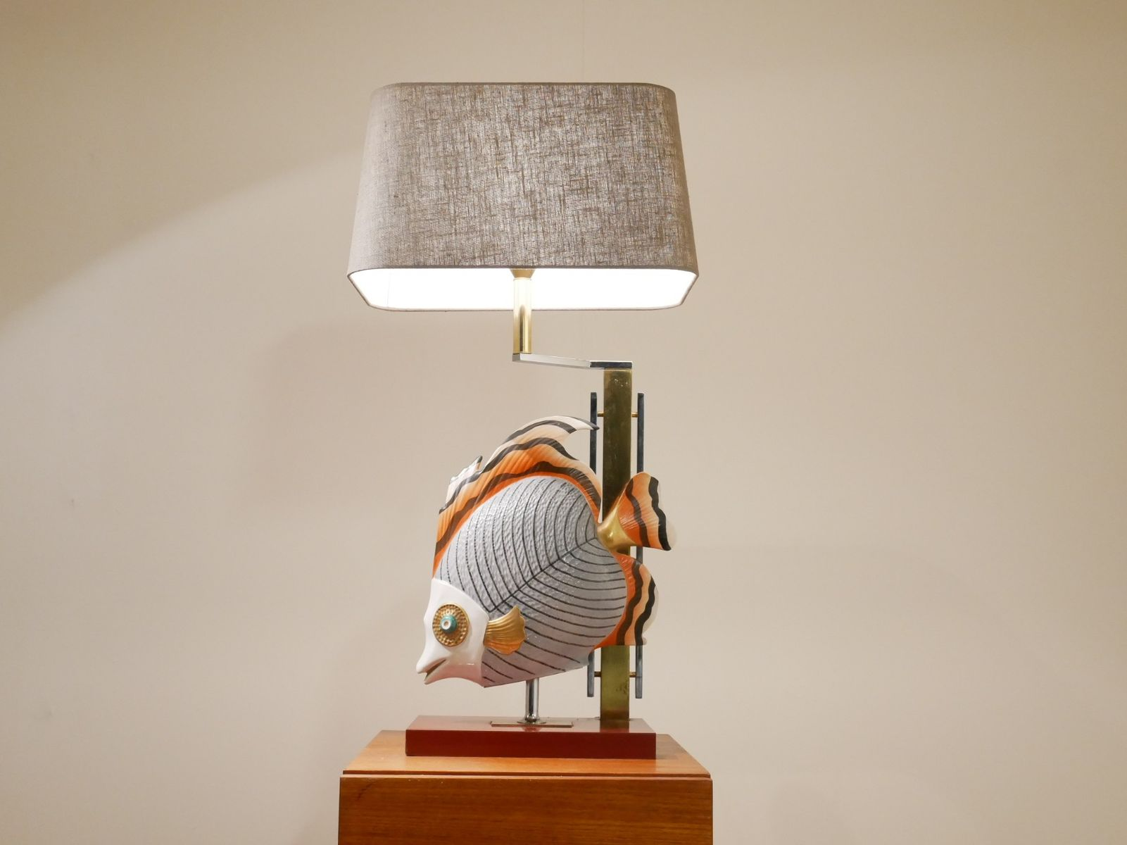 Vintage large tropical fish bicolored metal table lamp by ninaber vintage large tropical fish bicolored metal table lamp by ninaber van eyben aloadofball Image collections