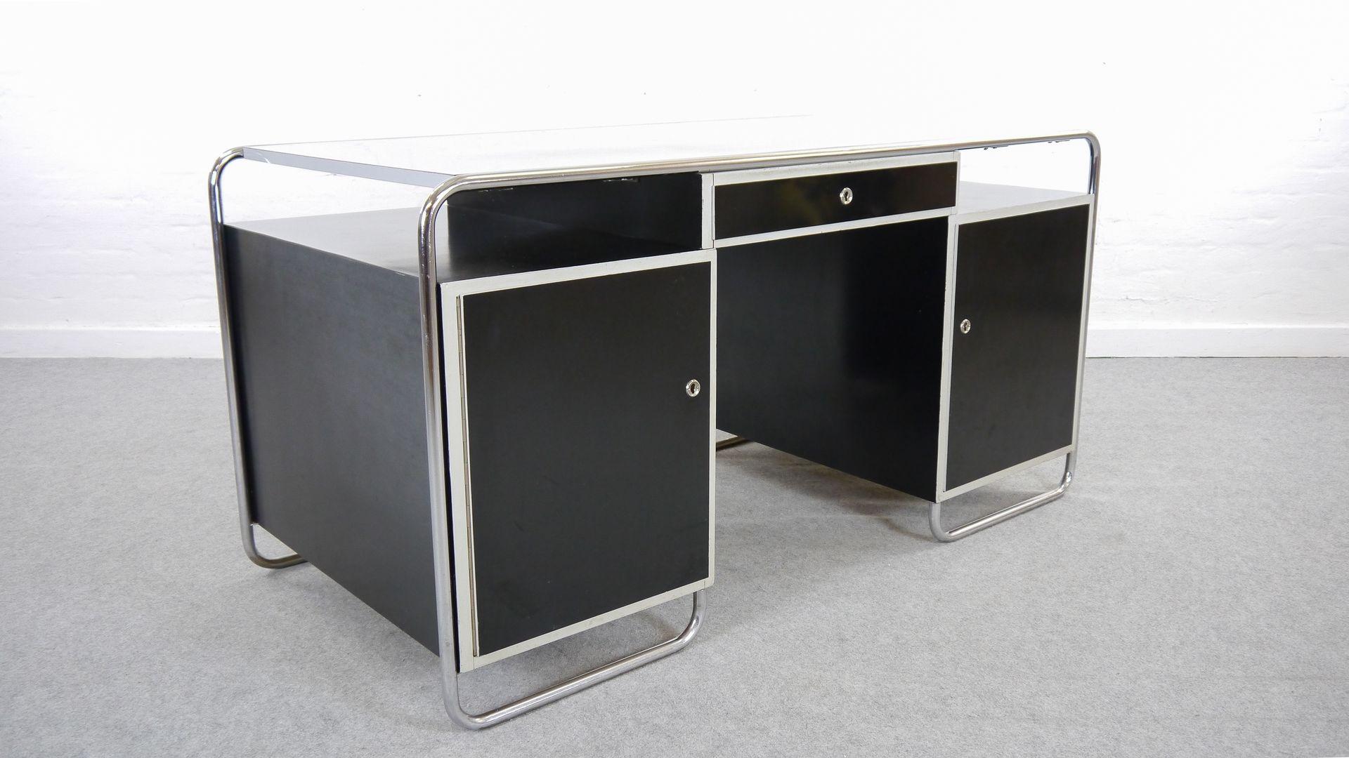 vintage stahlrohr schreibtisch im bauhaus stil bei pamono kaufen. Black Bedroom Furniture Sets. Home Design Ideas