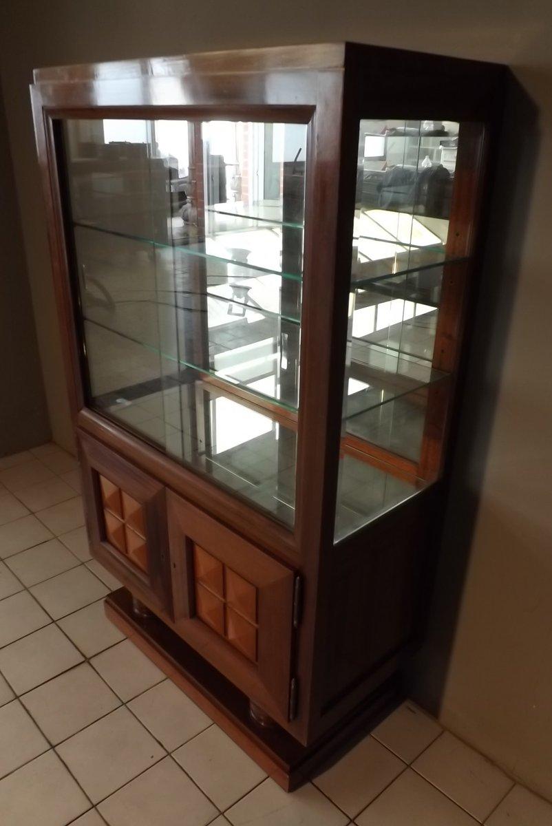 vitrine vintage en acajou de gaston poisson en vente sur pamono. Black Bedroom Furniture Sets. Home Design Ideas