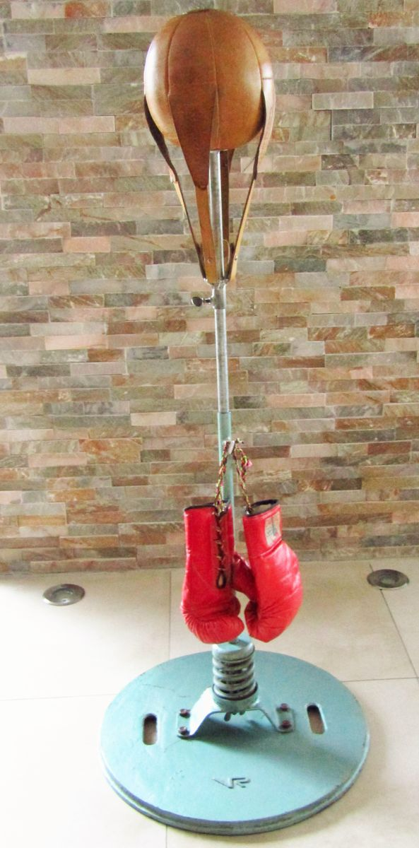 Leather Punching Ball With Boxing Glove From Vr 1950s For