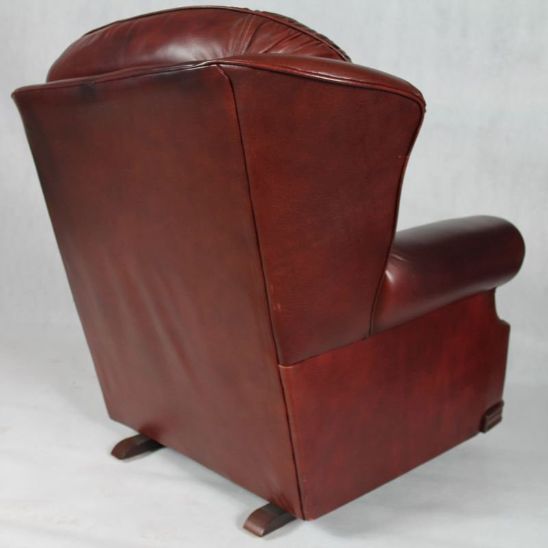 Vintage English Leather Chesterfield Living Room Set, 1950s 14. A$3,874.00