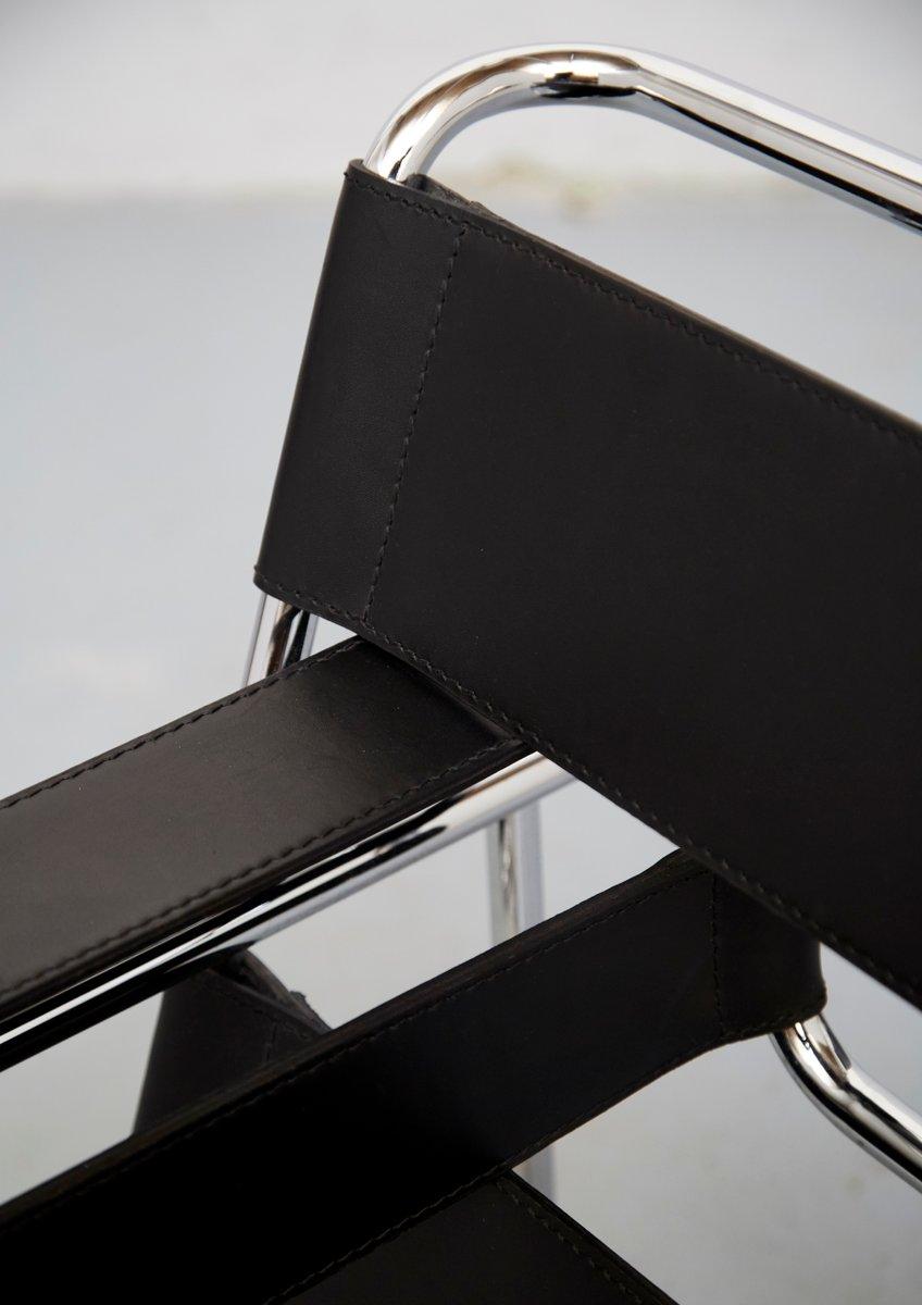 vintage b3 wassily stuhl von marcel breuer f r knoll. Black Bedroom Furniture Sets. Home Design Ideas