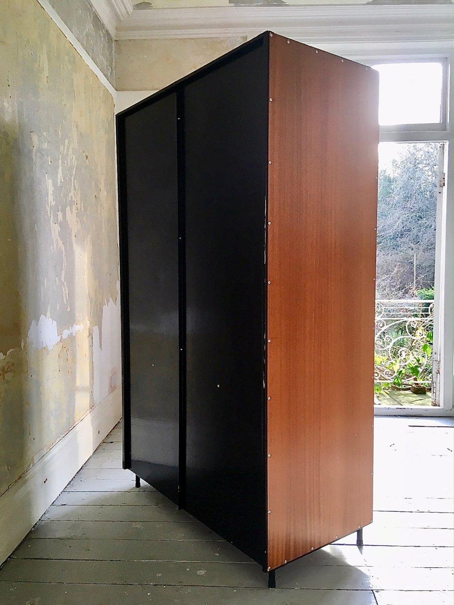 gro er schrank von willy van der meeren f r tubax 1950er. Black Bedroom Furniture Sets. Home Design Ideas
