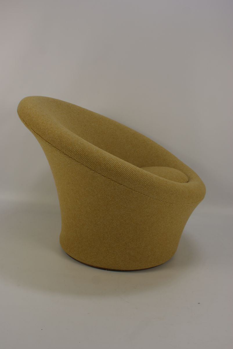 Vintage Mushroom Armchair With Pouf By Pierre Paulin For