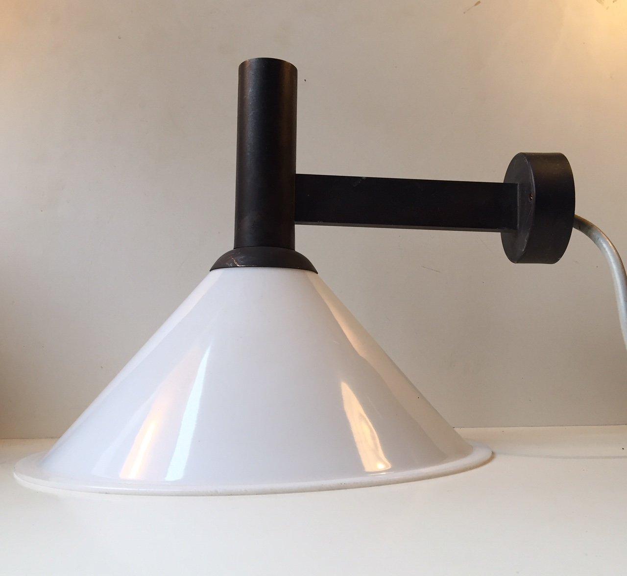 d nische mid century kupfer wandlampe f r au enbereich von f lsgaard lyfa 1970er bei pamono. Black Bedroom Furniture Sets. Home Design Ideas