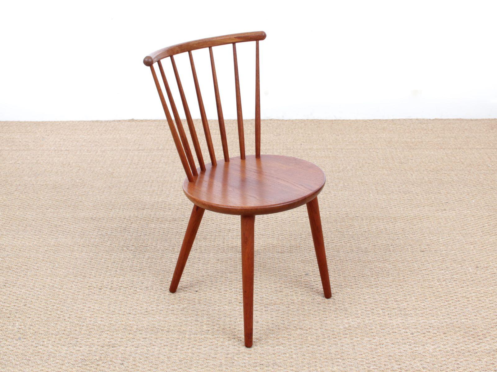 skandinavische vintage st hle aus teak 2er set bei pamono kaufen. Black Bedroom Furniture Sets. Home Design Ideas
