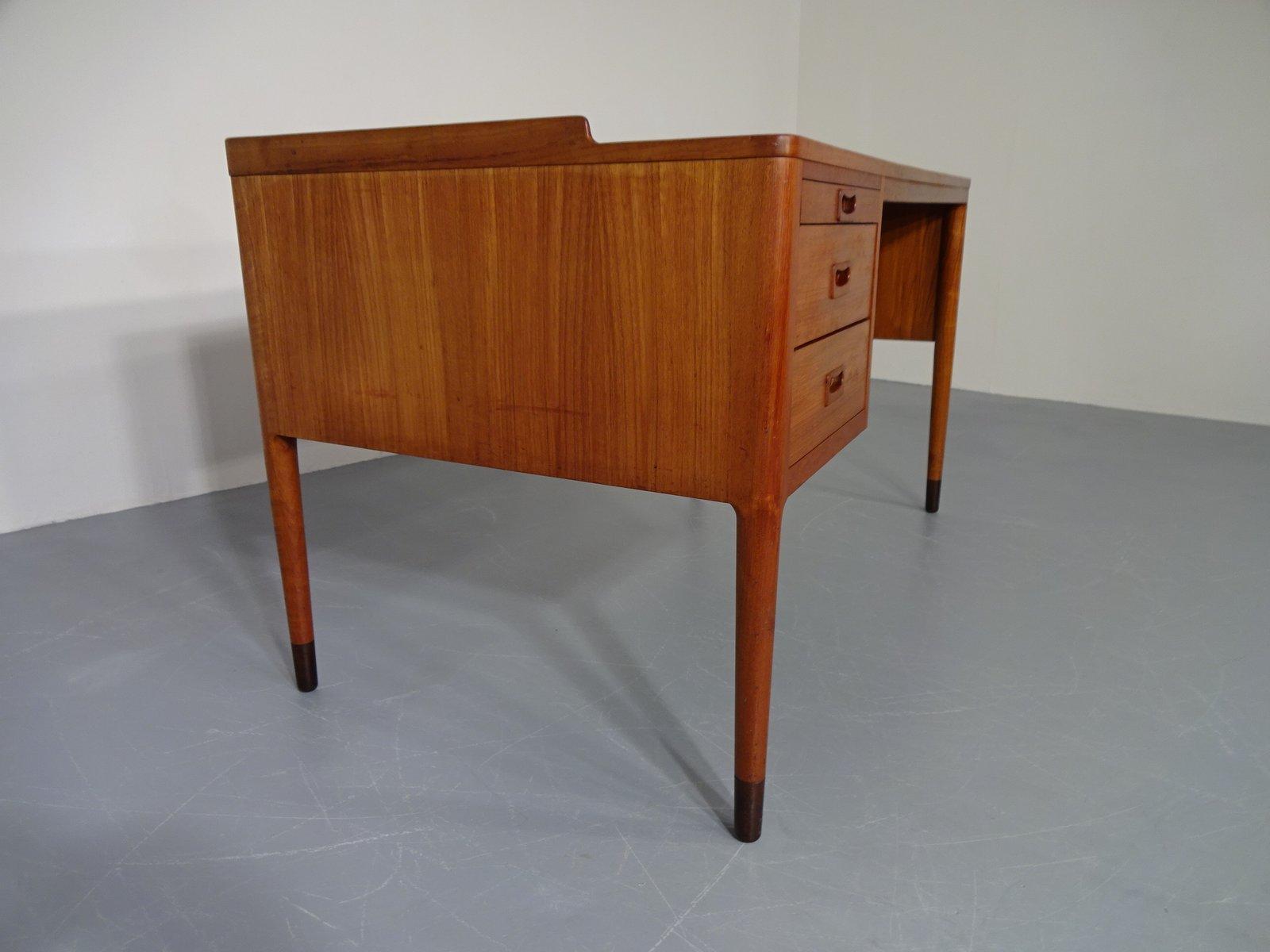 D nischer teakholz schreibtisch 1960er bei pamono kaufen for Schreibtisch teakholz