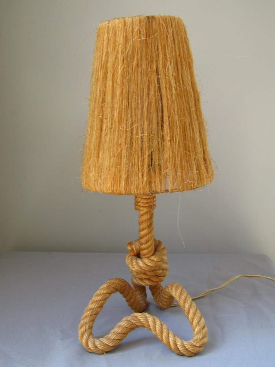 Rope Table Lamp By Adrien Audoux U0026 Frida Minet, 1960s