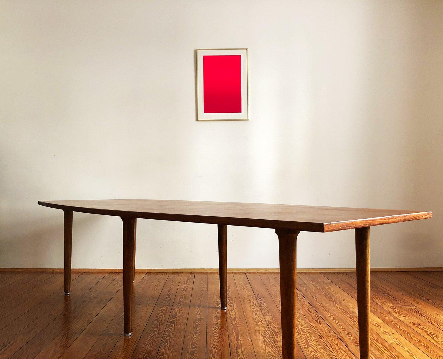 Large Mid Century Danish Teak U0026 Mahogany Dining Table