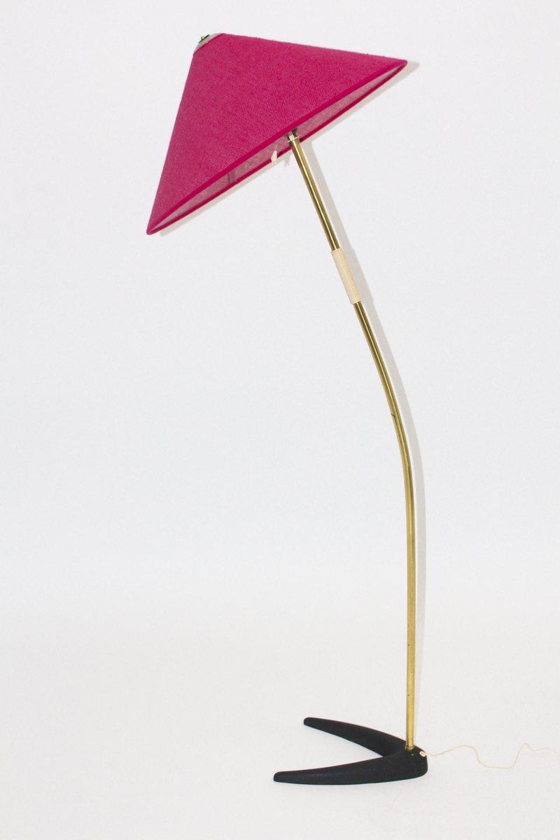 stehlampe mit himbeerfarbenen schirm von kalmar 1950er bei pamono kaufen. Black Bedroom Furniture Sets. Home Design Ideas
