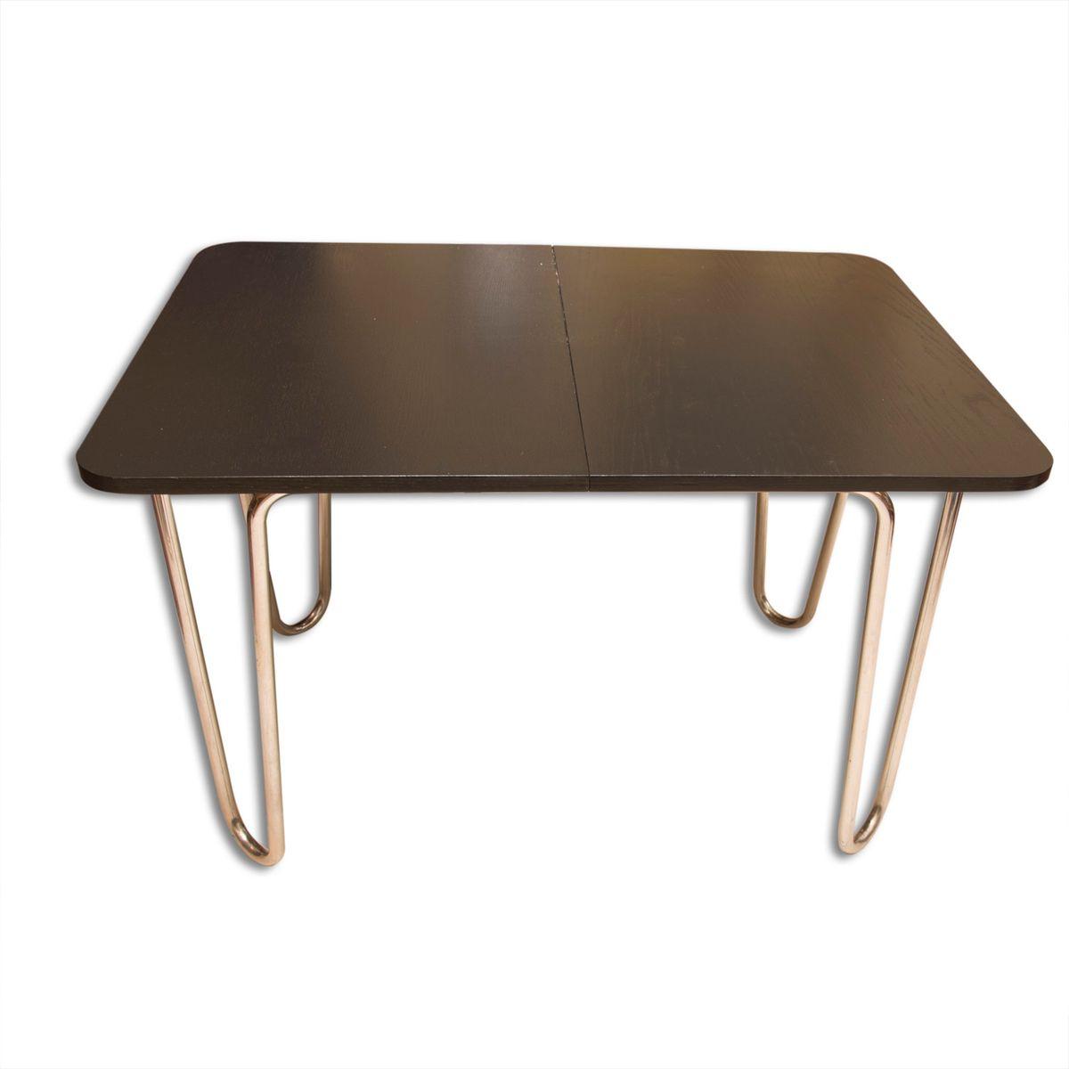 Bauhaus Esstisch klappbarer bauhaus esstisch aus eiche verchromtem metall
