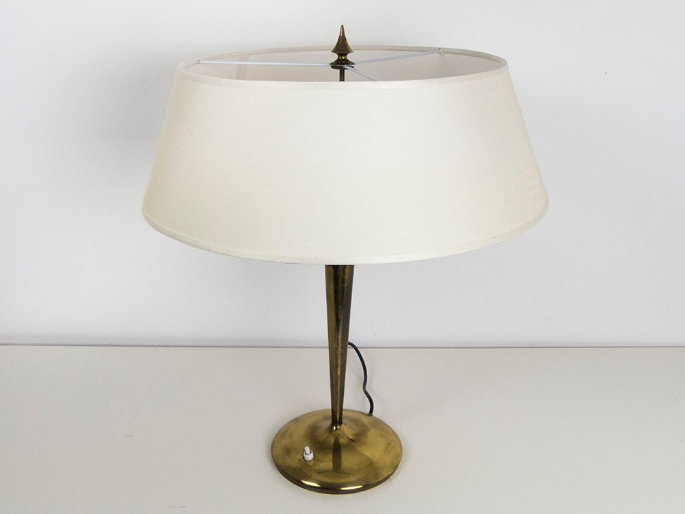 Large brass table lamp by emilio lancia 1940s for sale at pamono large brass table lamp by emilio lancia 1940s aloadofball Choice Image