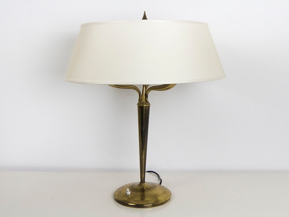 Large brass table lamp by emilio lancia 1940s for sale at pamono large brass table lamp by emilio lancia 1940s aloadofball Gallery