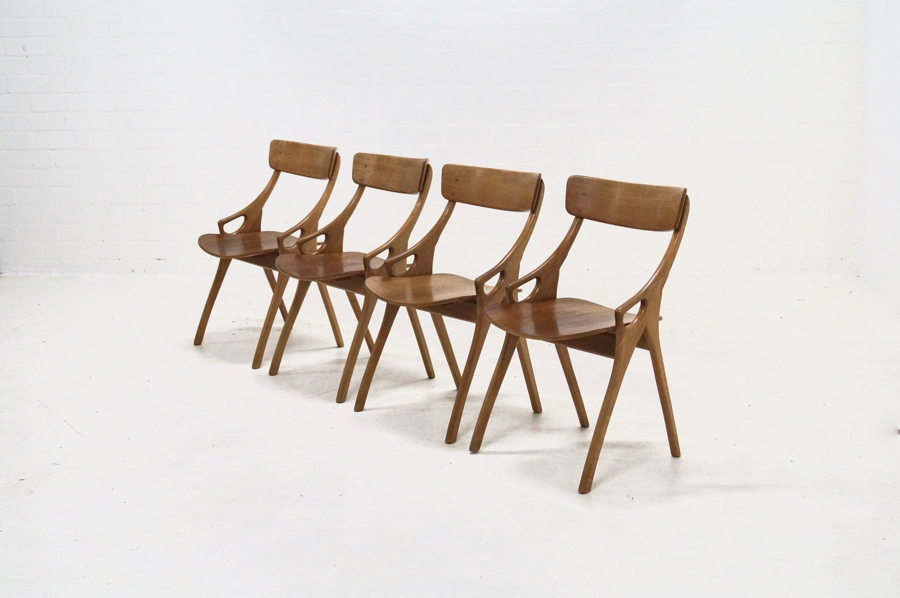 Danish Dining Chairs By Hovmand Olsen For Mogens Kold 1958 Set Of 4 Sale At Pamono