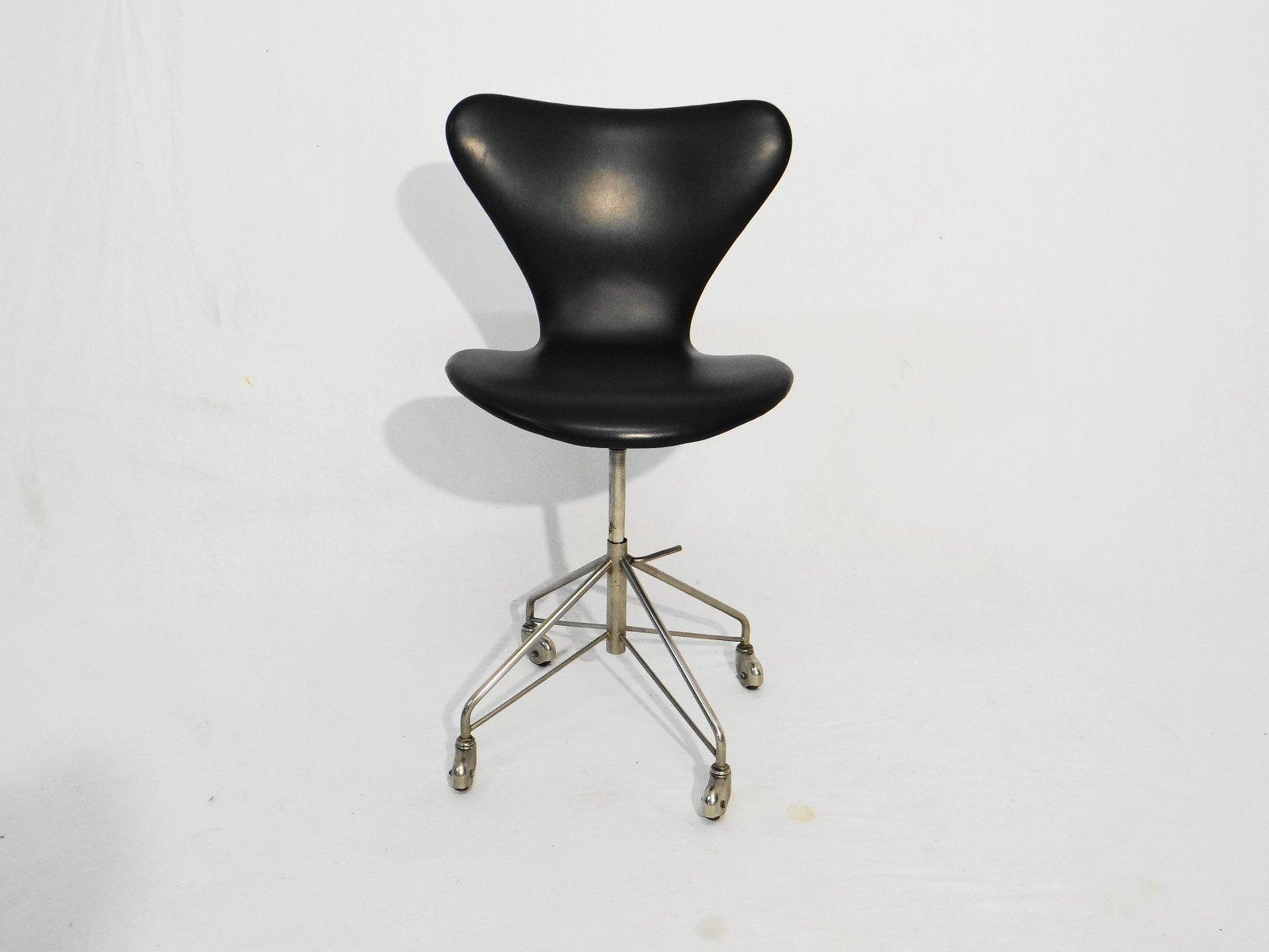 vintage series 7 drehstuhl von arne jacobsen f r fritz hansen bei pamono kaufen. Black Bedroom Furniture Sets. Home Design Ideas