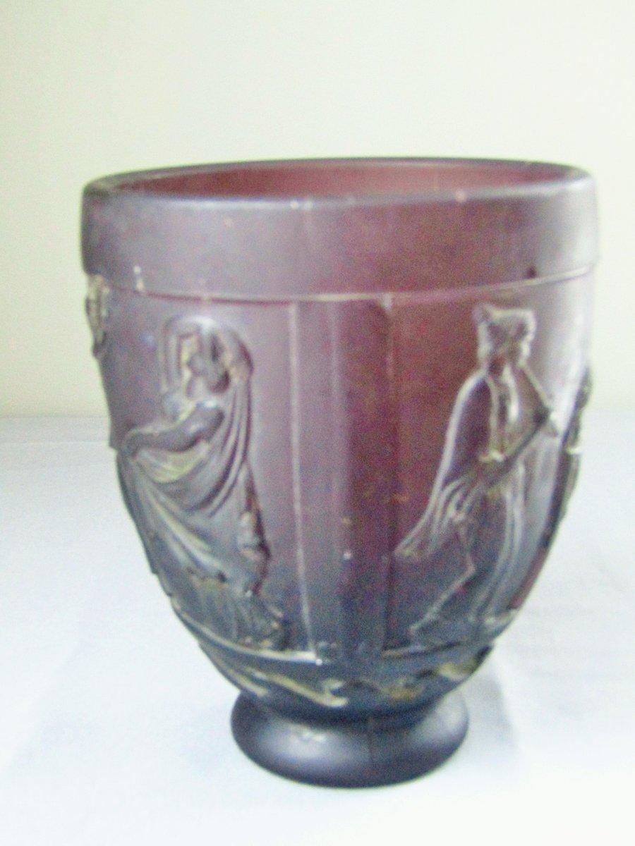 Art Deco Glass Vase By Georges De Feure 1920s For Sale At