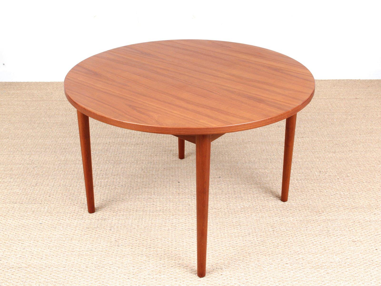 table de salle manger ronde scandinave par nils jonsson pour hugo troeds 1960s en vente sur. Black Bedroom Furniture Sets. Home Design Ideas