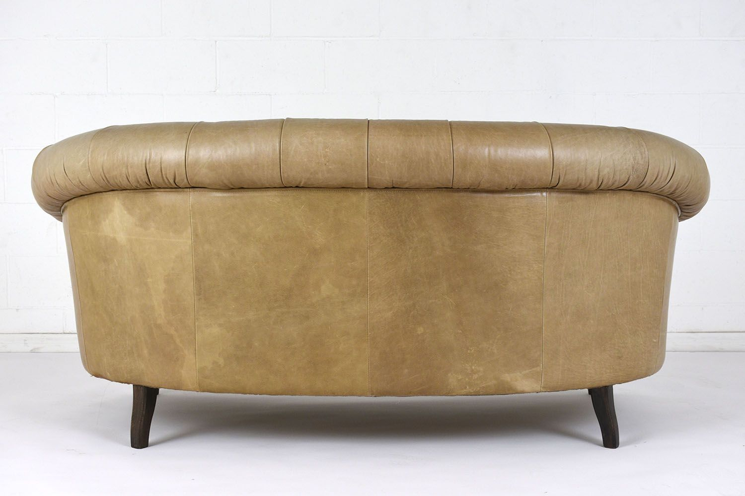 Chesterfield Style Leather Sofa, 1960s for sale at Pamono