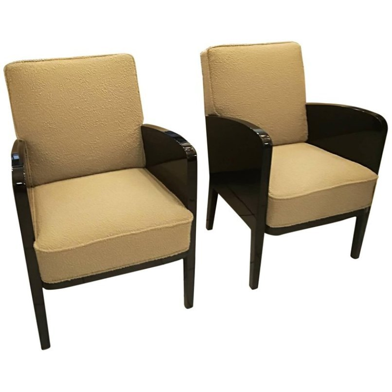 French Lounge Chairs By Damon U0026 Berteaux, 1930s, Set Of 2