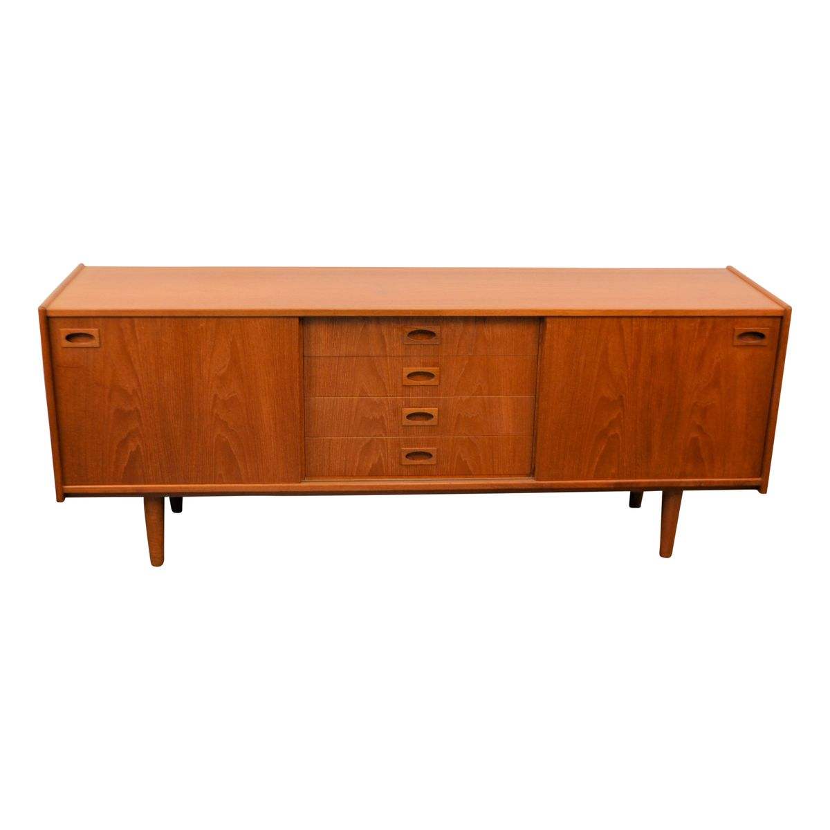 d nisches vintage teak sideboard von mogens kold bei pamono kaufen. Black Bedroom Furniture Sets. Home Design Ideas