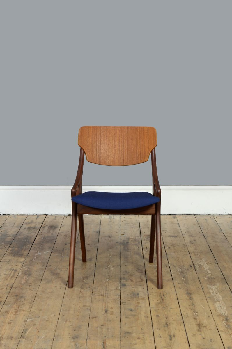 Blue Occasional Chair By Arne Hovmand Olsen For Mogens Kold, 1950s