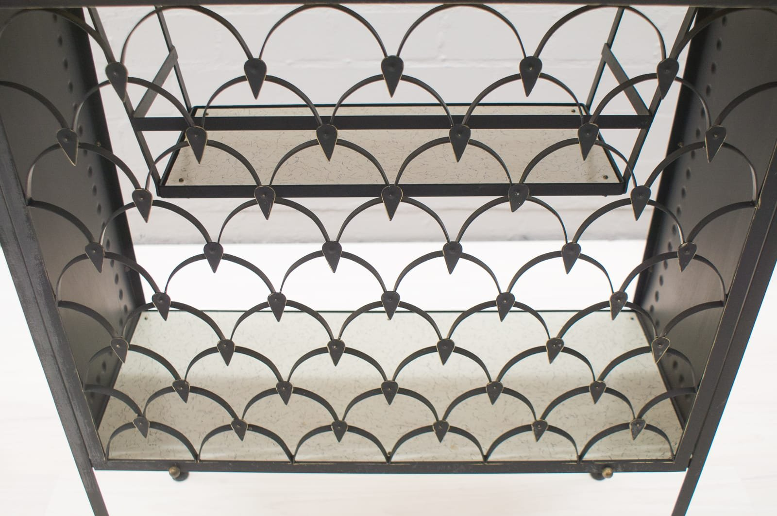 Italian ceramic tile iron bar trolley 1950s for sale at pamono price per piece dailygadgetfo Images