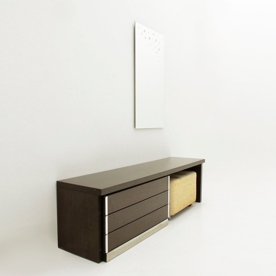 Space age vanity desk with mirror pouf 1970s for sale for Vanity desk no mirror