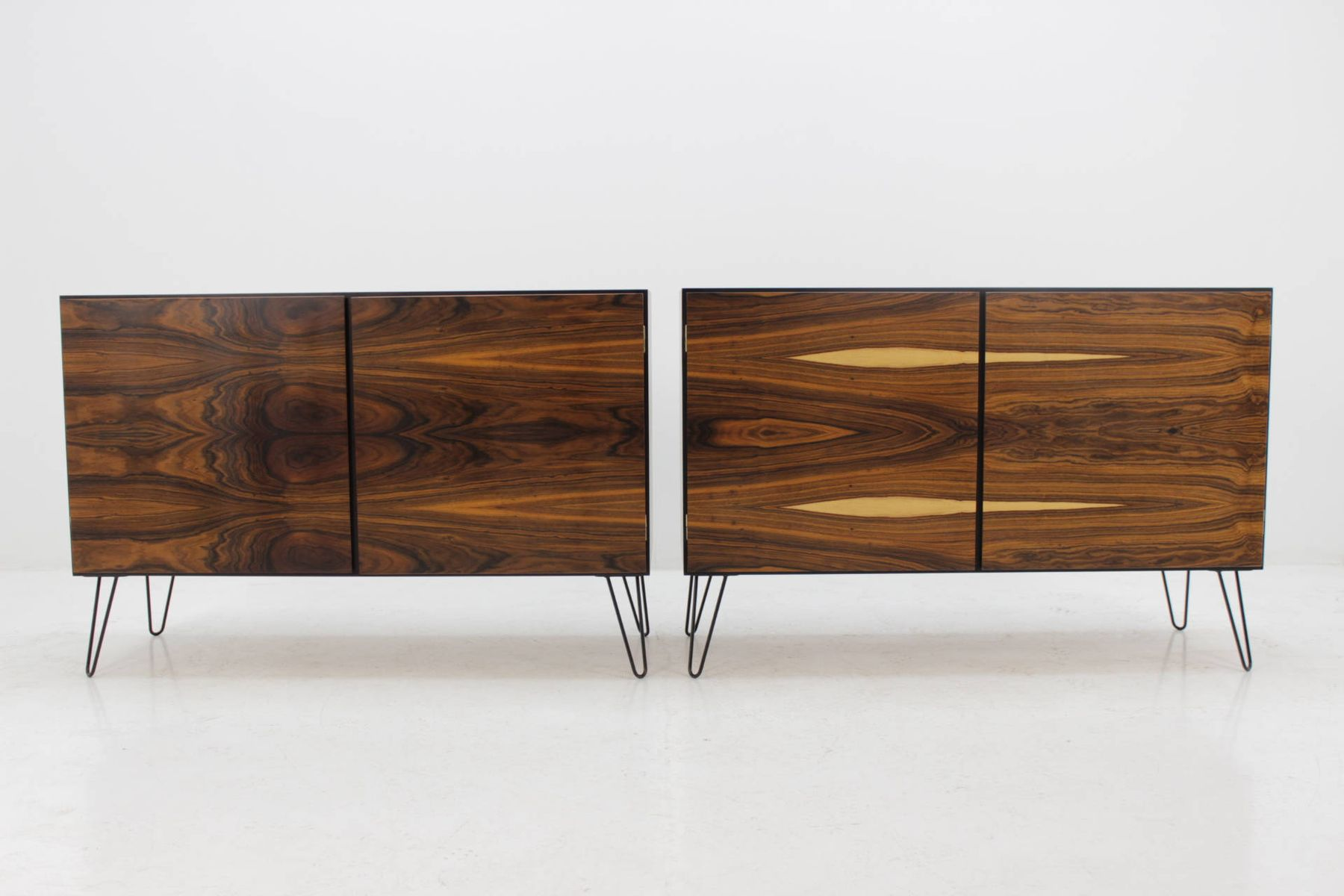 Mid century rosewood sideboards from omann jun set of 2 for Sideboard 120