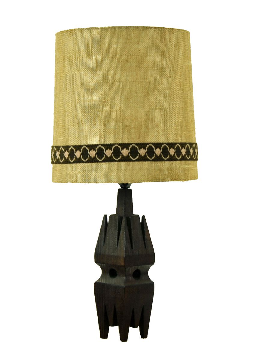 vintage lampe mit schirm aus holz bei pamono kaufen. Black Bedroom Furniture Sets. Home Design Ideas