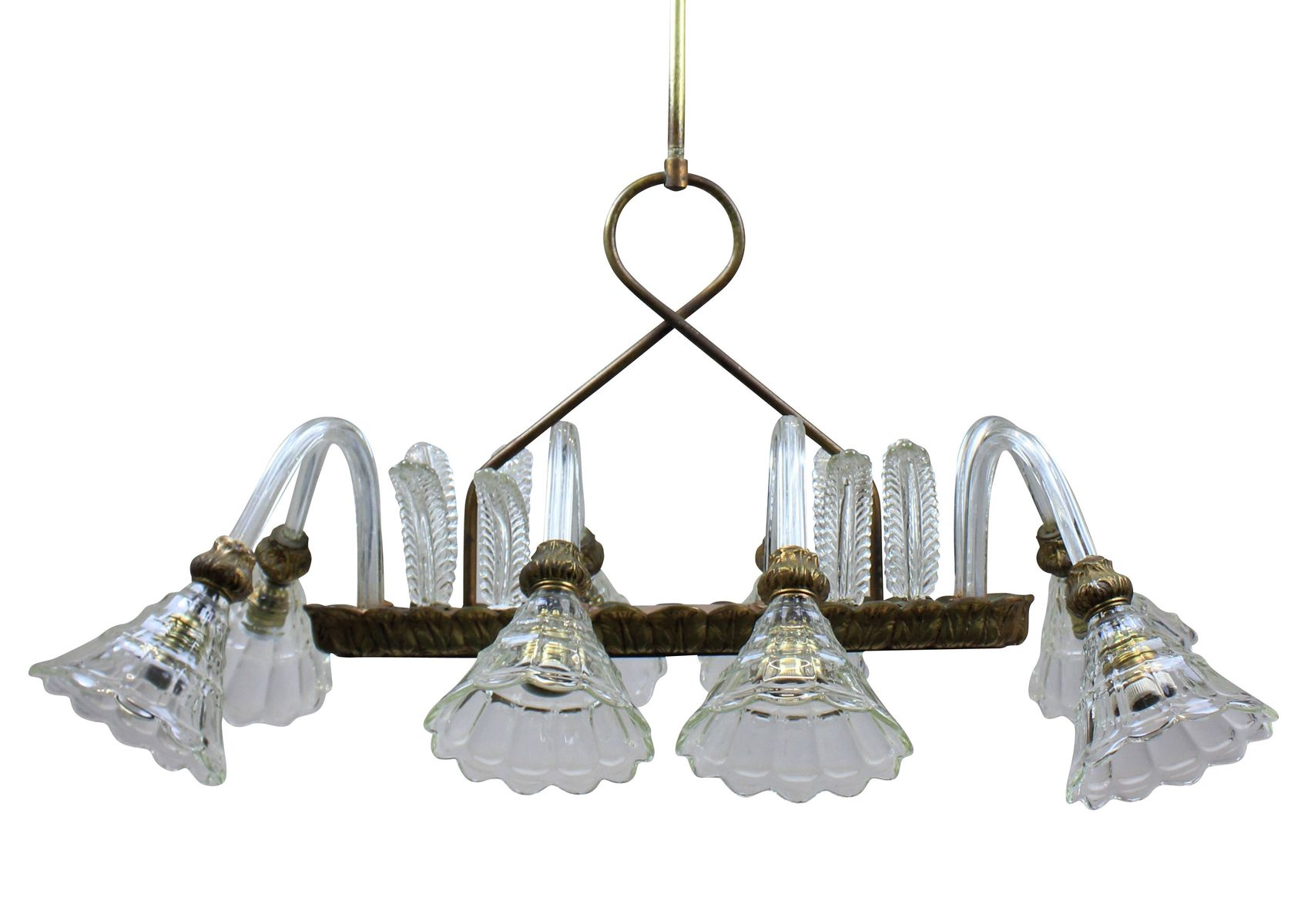 Rectangular chandelier from barovier toso 1950s for sale at pamono rectangular chandelier from barovier toso 1950s mozeypictures Choice Image