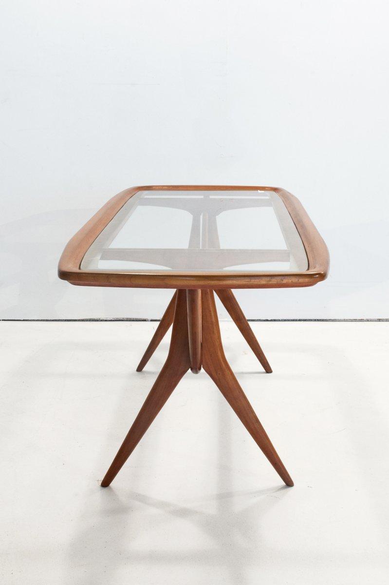 kleiner mid century tisch aus ge tztem glas 1950er bei pamono kaufen. Black Bedroom Furniture Sets. Home Design Ideas