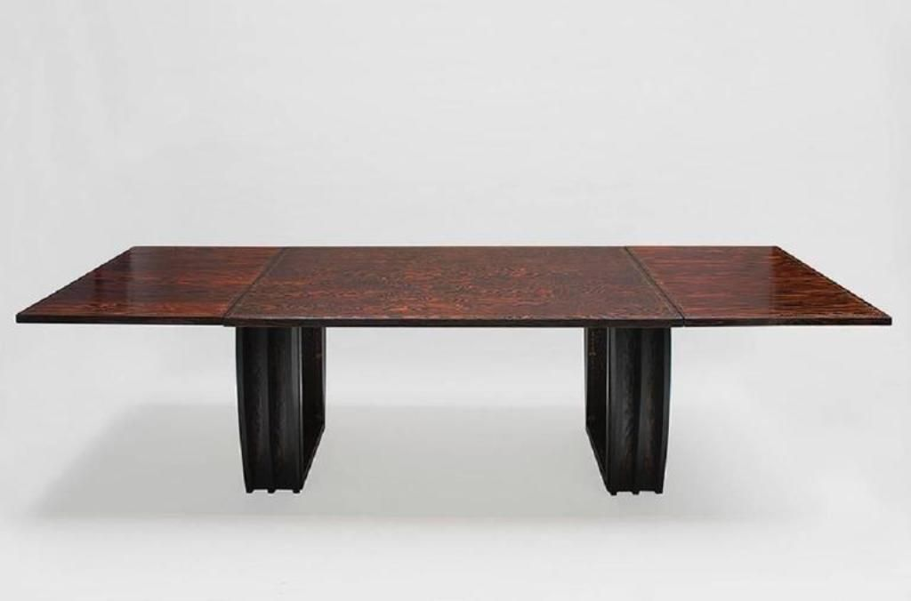 Oregon Pine Dining Room Table From André Sornay 1930s