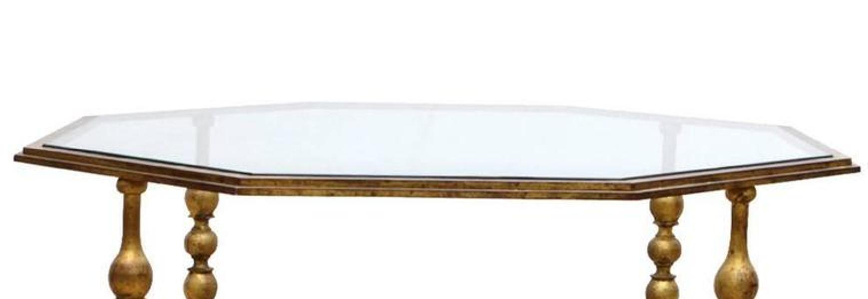 Niedriger achteckiger couchtisch 1940er bei pamono kaufen for Niedriger couchtisch